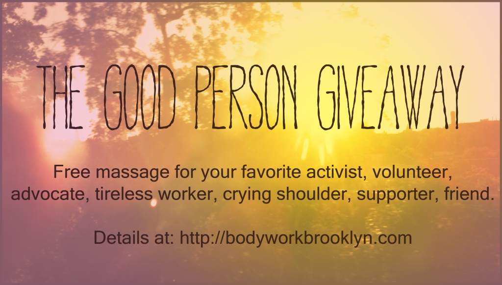 good person giveaway